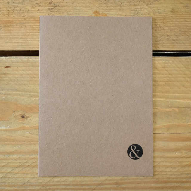 Personalised Stationery : Seyes Ruled : Journal Kraft