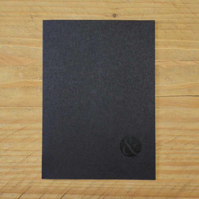 Journal Black Plain | Design, proof and buy online | Personalised Stationery