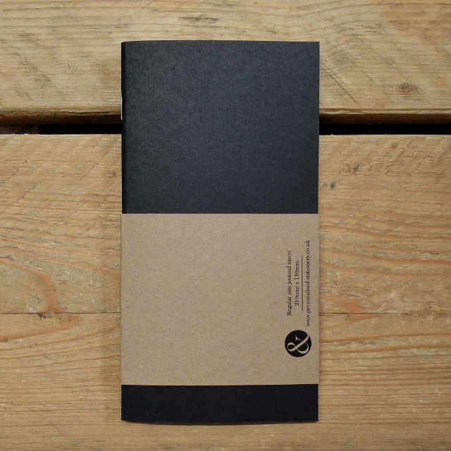 Journal Black Grid Ruled | Design, proof and buy online | Personalised Stationery