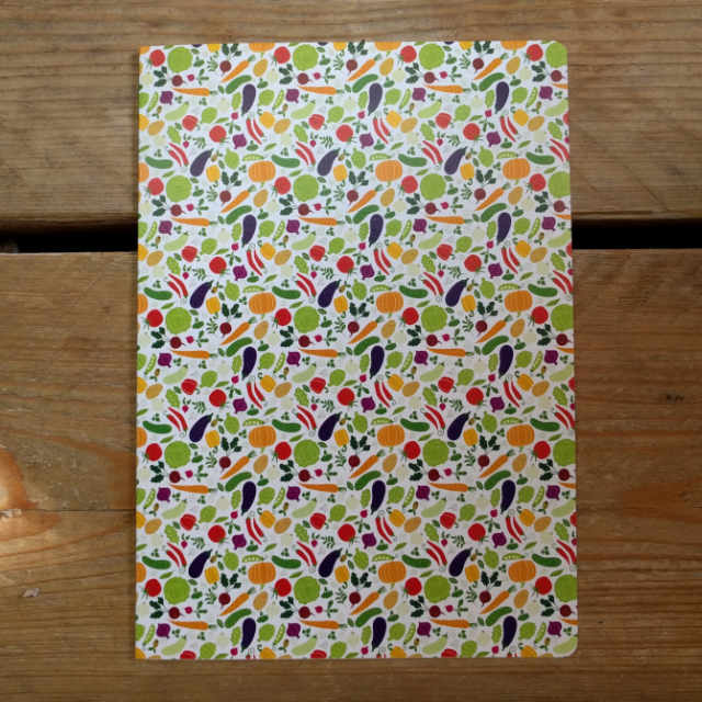 Personalised Stationery : Dot Grid : Vegetables