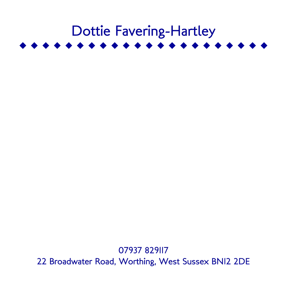 Personalised Stationery : 120SQ Cards : Dottie Diamond