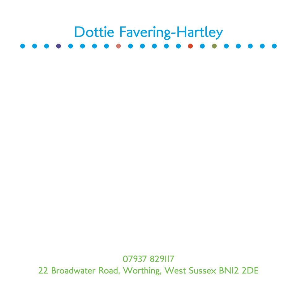 Personalised Stationery : 120SQ Cards : Dottie Spot
