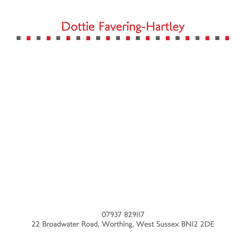 Personalised Stationery : 120SQ Cards : Dottie Square