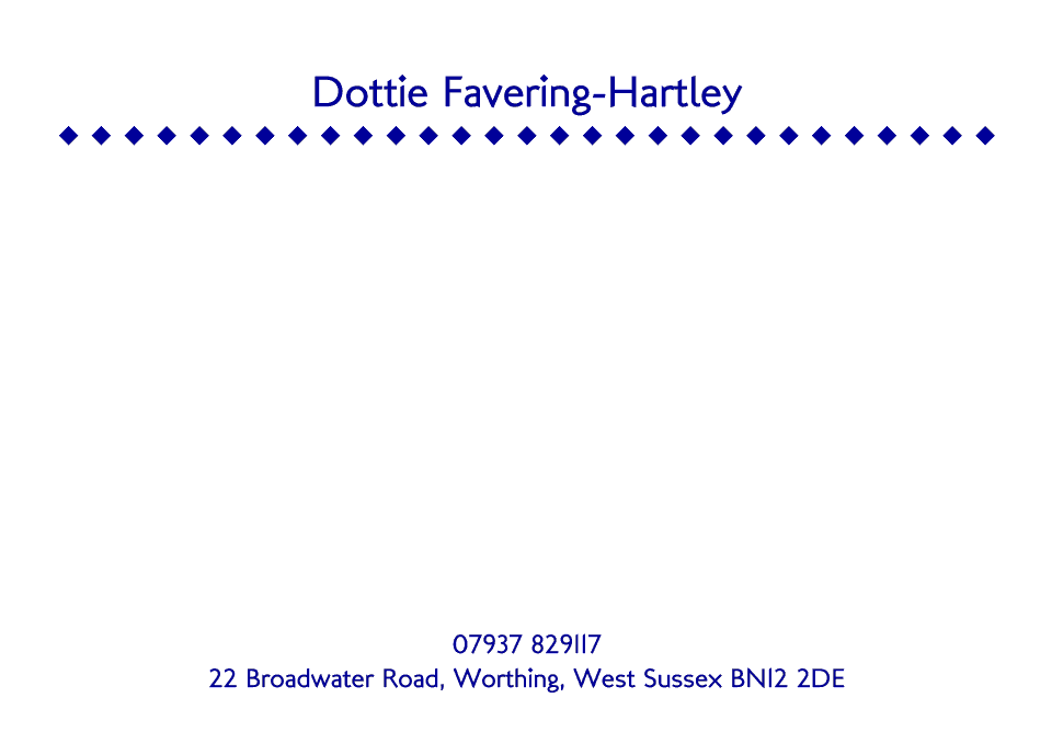 Personalised Stationery : A6 Cards : Dottie Diamond