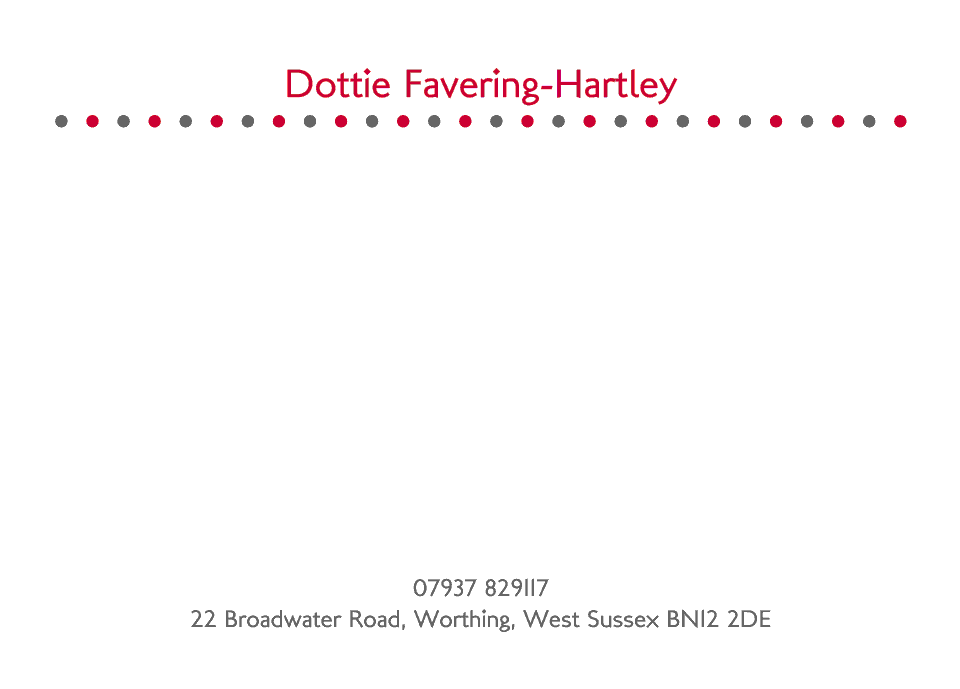 Personalised Stationery : A6 Cards : Dottie Spot