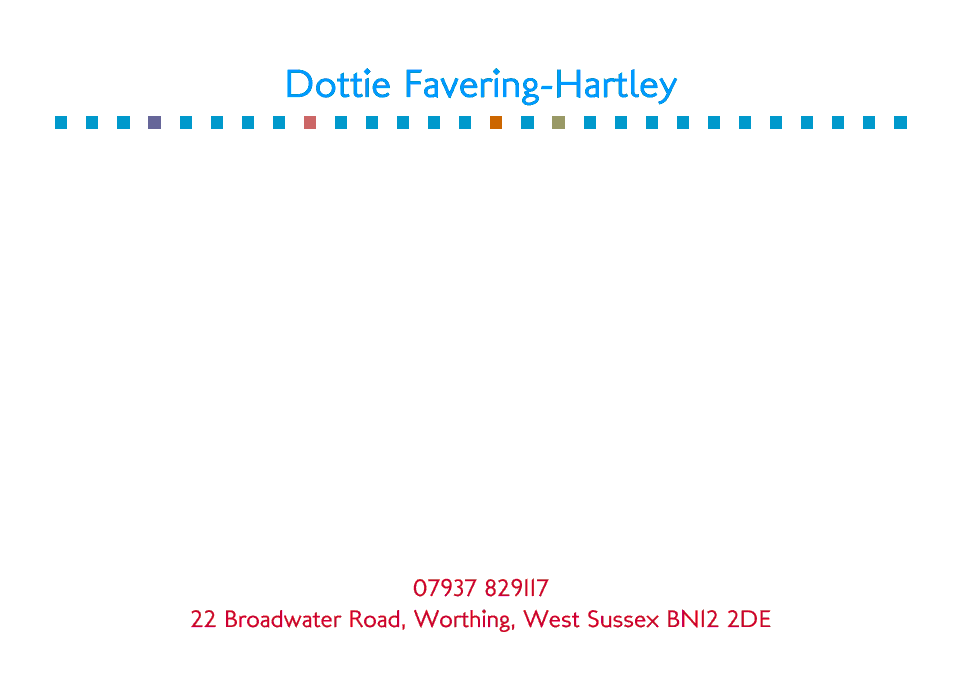 Personalised Stationery : A6 Cards : Dottie Square
