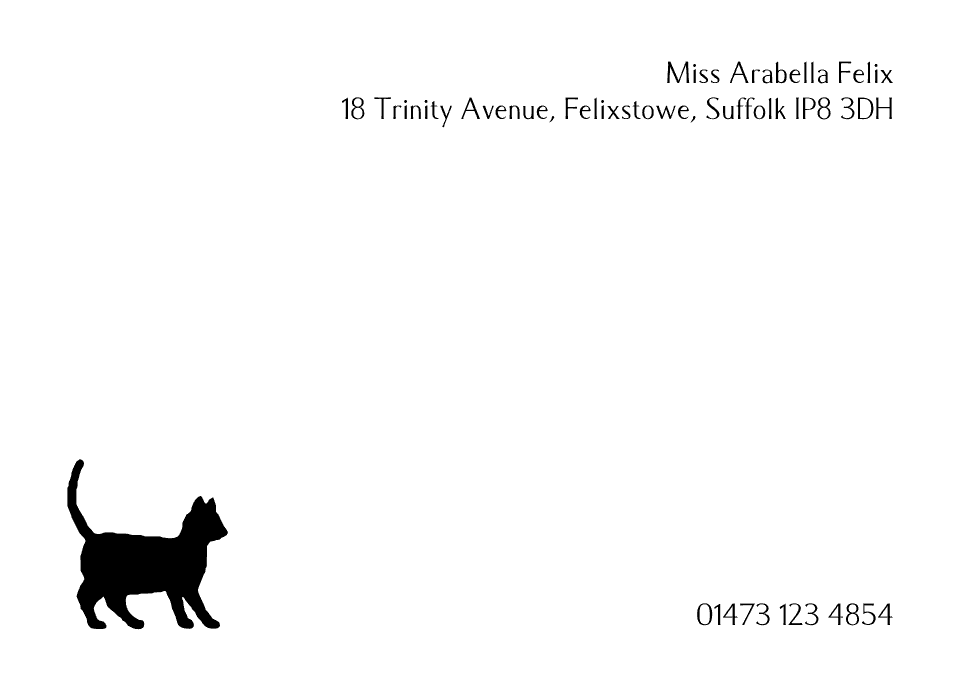 Personalised Stationery : Motif Postcards : Felix
