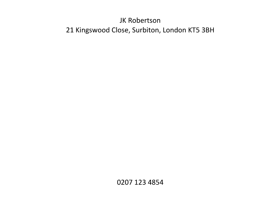 Halloughton A6 Basic | Design, proof and buy online | Personalised Stationery