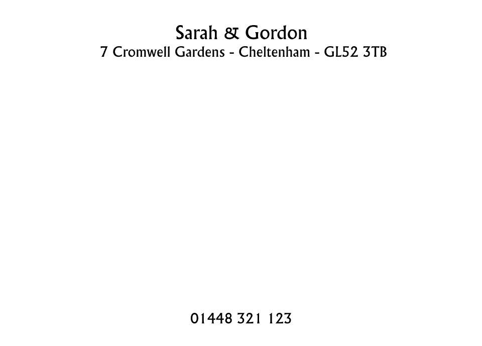 Personalised Stationery : Demi Quarto Laid Cards : Langham