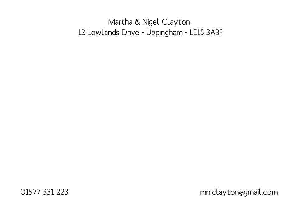 Personalised Stationery : A6 Textured  Laid : Uppingham