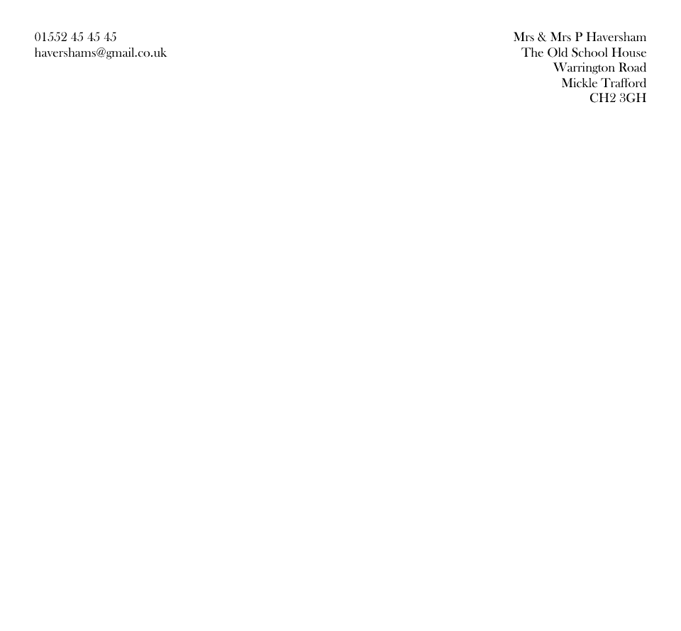 Personalised Stationery : 2/3 A4 Letterhead : Exton