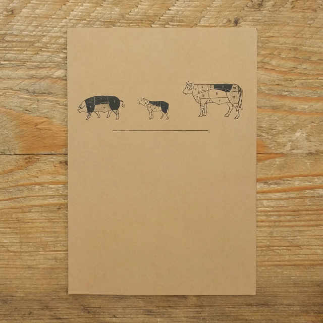 Personalised Stationery : A6 Note Card : Boucher