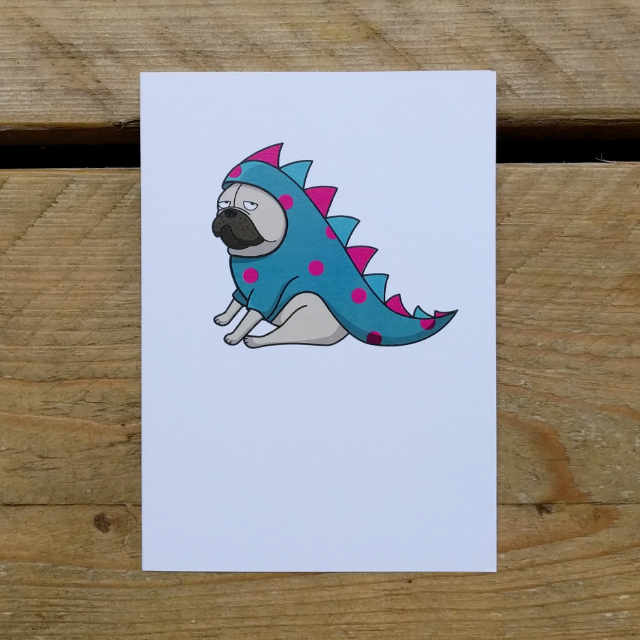 Personalised Stationery : A6 Note Card : Drage
