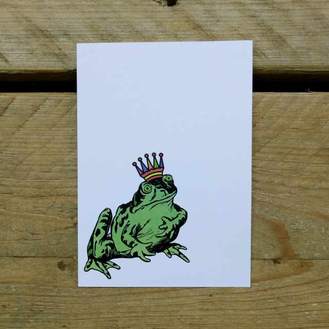 Personalised Stationery : A6 Note Card : Konge