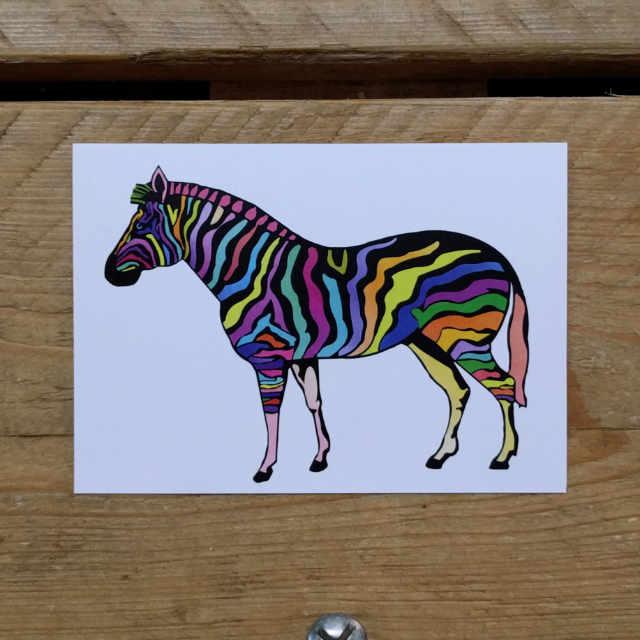 Personalised Stationery : A6 Note Card : Sebra