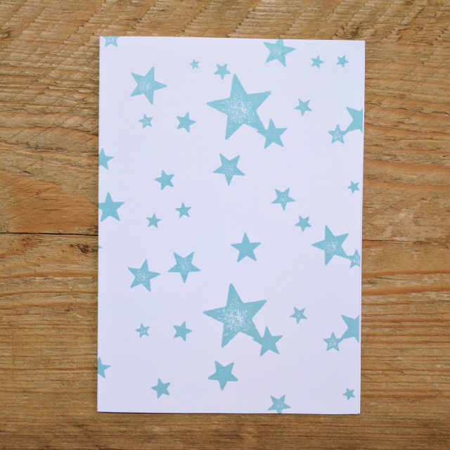 Personalised Stationery : A6 Note Card : Starwash