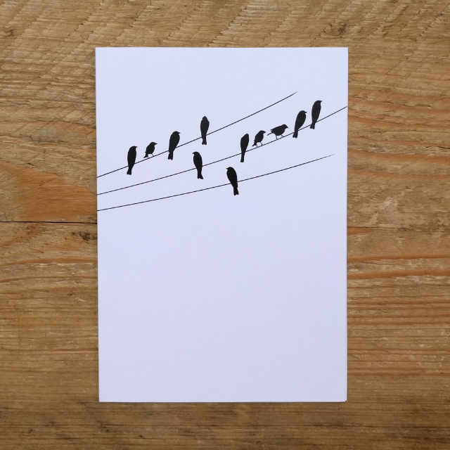 Personalised Stationery : A6 Note Card : Wired