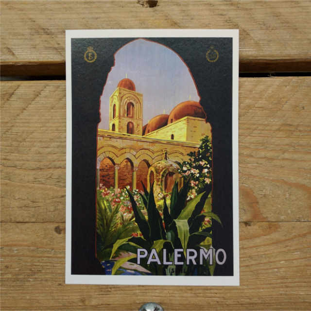 Personalised Stationery : Demi Quarto Postcard : Palermo