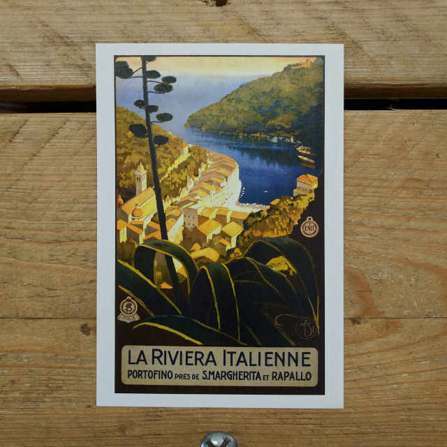 Personalised Stationery : Demi Quarto Postcard : Riviera