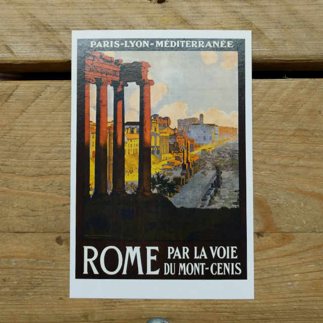 Personalised Stationery : Demi Quarto Postcard : Roma