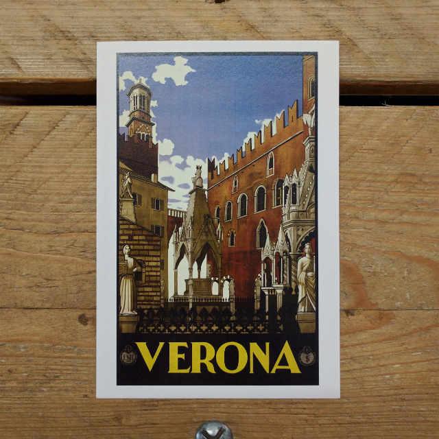 Personalised Stationery : Demi Quarto Postcard : Verona