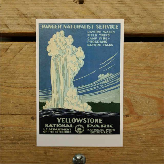 Personalised Stationery : Demi Quarto Postcard : Yellowstone