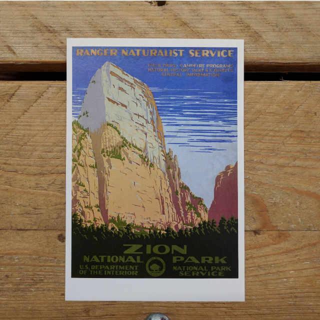 Personalised Stationery : Demi Quarto Postcard : Zion
