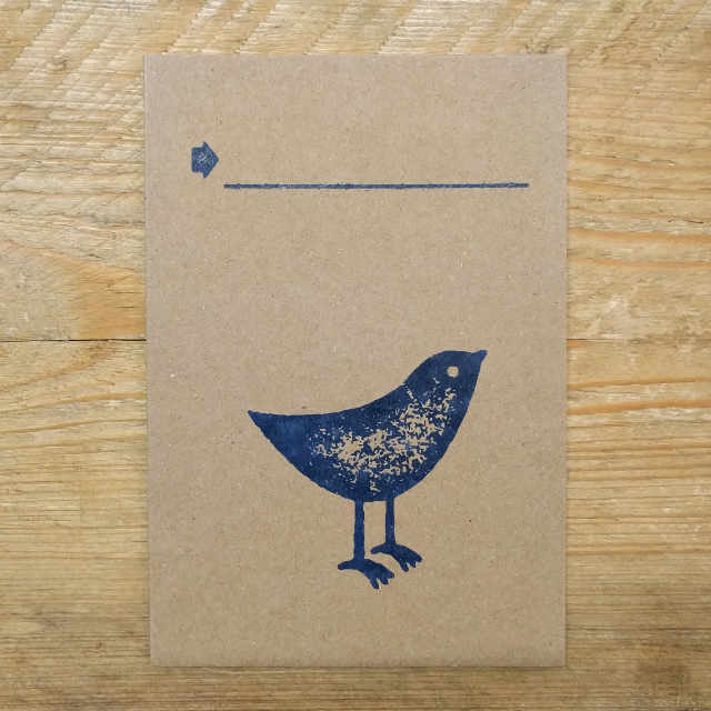 Personalised Stationery : Demi Quarto Note Card : Sialia