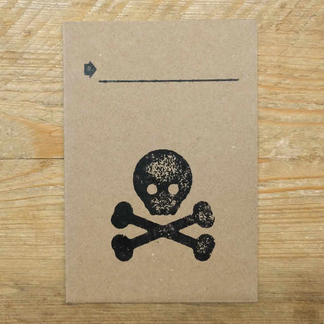 Skulle Demi Quarto Note Card | Design, proof and buy online | Personalised Stationery