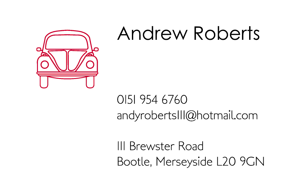 Beetle Business Cards Ultra-Twin | Design, proof and buy online | Personalised Stationery