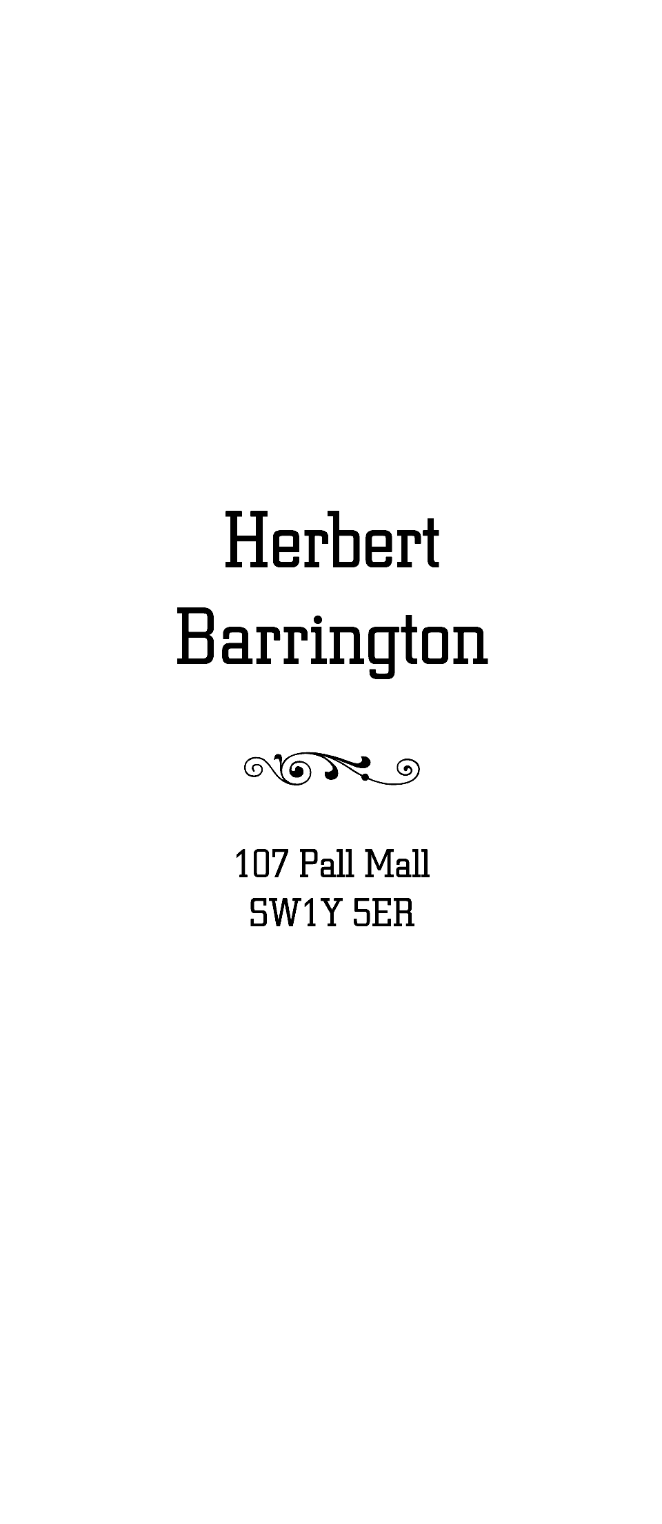 Personalised Stationery : Trafalgar : Barrington
