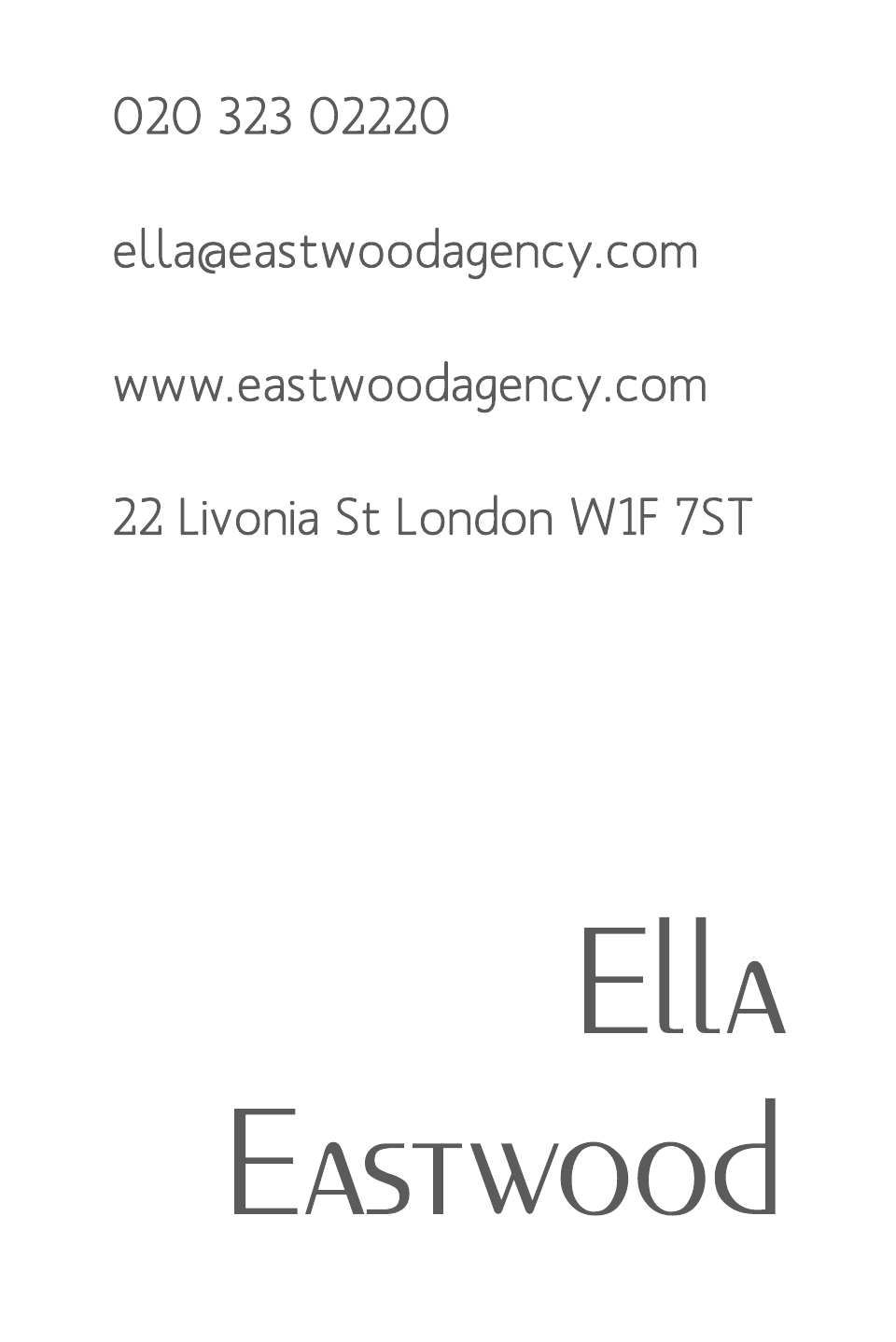 Eastwood Business Cards Ultra-Twin Foiled | Design, proof and buy online | Personalised Stationery