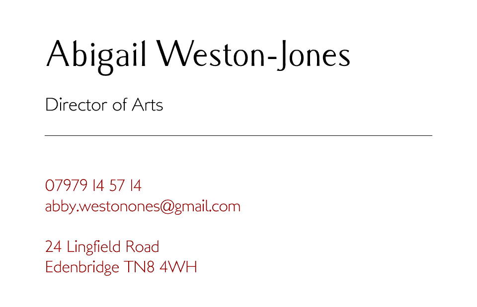 Personalised Stationery : Kensington : Weston-Jones