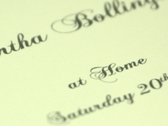 Design and proof your personalised Invitations At Home