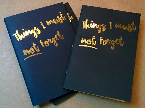 Design and proof your personalised Stationery Forgetmenote Books
