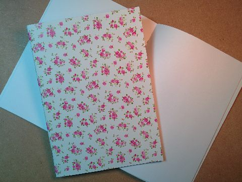 Design and proof your personalised Stationery Rose Print Notebooks