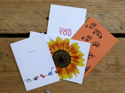 Design and proof your personalised Stationery Supplies Thank You Cards