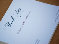 Design and proof your personalised Social Stationery Thank You Cards